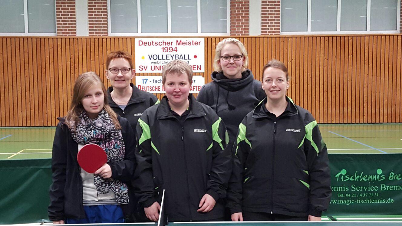 Erste Damen des SV-Union-Meppen Tischtennis